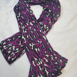 Collection 18 Leopard Purple/Black/Cream Scarf